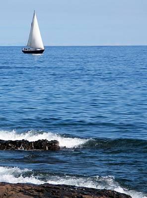 Photograph - Sailboat On Superior by Bridget Johnson