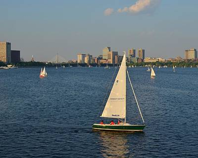 Sailboat On The Charles River Art Print by Toby McGuire