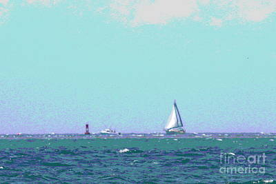 Sailboat Photograph - Sailboat On The Horizon by Cathy Lindsey