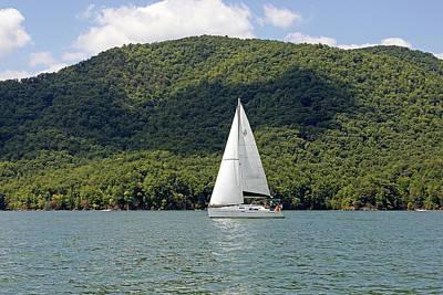 Tva Photograph - Sailboat On Watauga Lake - Tennessee by Brendan Reals