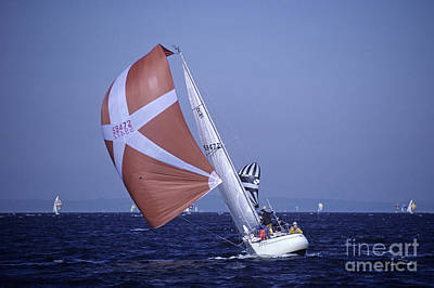 Photograph - Sailboat Race On Puget Sound by Jim Corwin