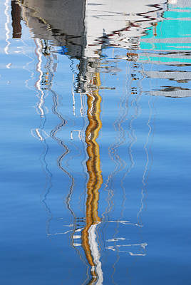 Sails Photograph - Sailboat Reflection by Jani Freimann