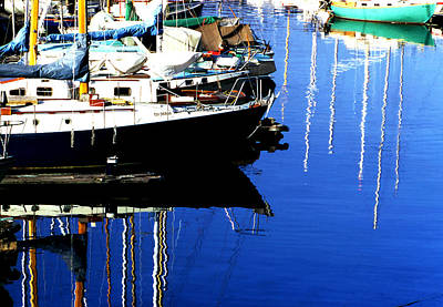 Photograph - Sailboat Reflections by Robert  Rodvik