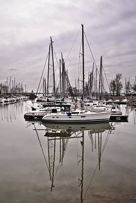 Photograph - Sailboat Row by Greg Jackson