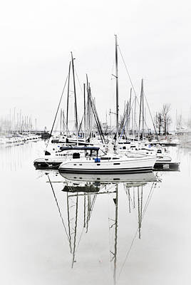 Photograph - Sailboat Row With Touches Of Blue by Greg Jackson