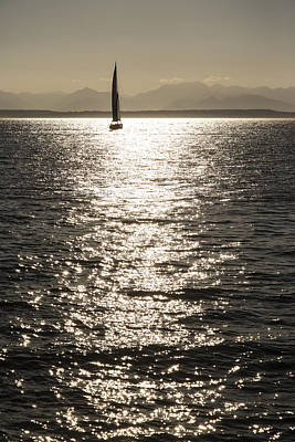 Photograph - Sailboat Silhouette by Lee Kirchhevel
