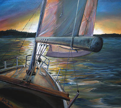 Canadian Sports Painting - Smooth Sailing by Stefan Kaertner
