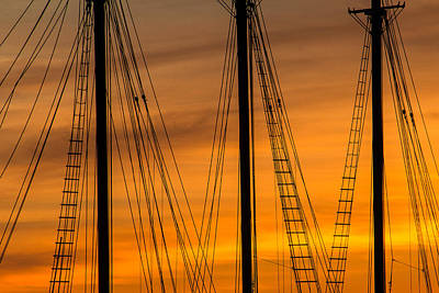 Sailboat Sunrise Art Print by Steven Bateson