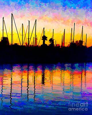 Sailboat Sunset Original by Barbara Rabek