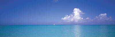 Turks And Caicos Islands Photograph - Sailboat, Turks And Caicos, Caribbean by Panoramic Images