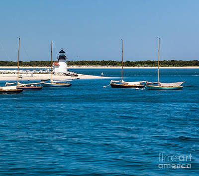 Brant Point Photograph - Sailboats And Brant Point Lighthouse Nantucket by Michelle Wiarda