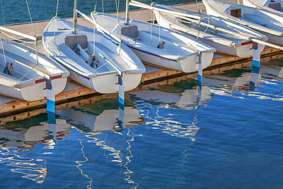 Digital Art - Sailboats And Dock by Cliff Wassmann