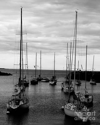 Photograph - Sailboats At Harbor Mouth by Kristen Fox
