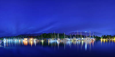 Photograph - Sailboats At Night by Metro DC Photography