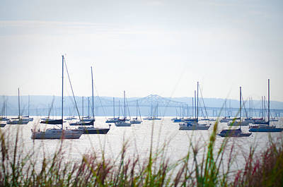 Sailboats At Rest Art Print by Bill Cannon