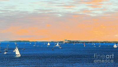 Photograph - Sailboats At Sunset In Key West by Janette Boyd