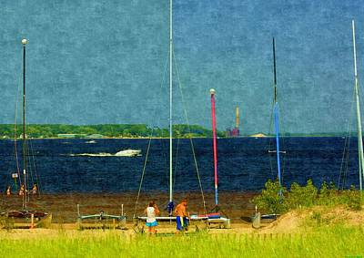 Painting - Sailboats Beached by Rosemarie E Seppala