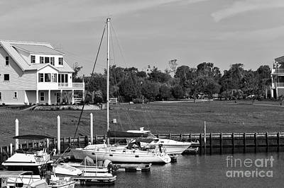 Photograph - Sailboats Docked At North Myrtle Beach Mono by John Rizzuto