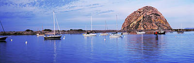 Morro Bay Photograph - Sailboats In An Ocean, Morro Bay, San by Panoramic Images