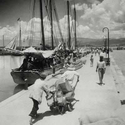 Photograph - Sailboats In Haiti by Cecil Beaton