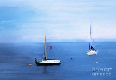 Painting - Sailboats In Skerries Harbor- Mixed Media Photography by Patricia Griffin Brett