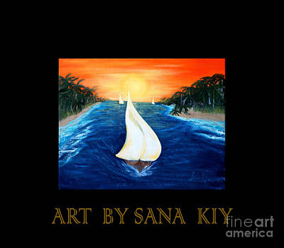 Painting - Sailboats. Inspirations Collection. by Oksana Semenchenko
