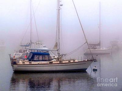 Photograph - Sailboats On A Foggy Day by Janice Drew