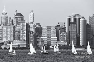 Photograph - Sailboats On The Hudson Iv by Clarence Holmes