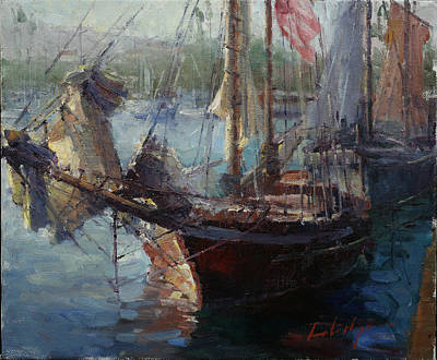 Sailboats Past Original by Dali Higa