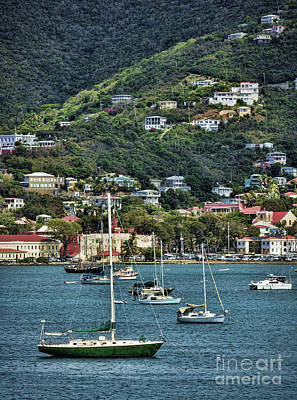 Photograph - Sailboats Resting In St. Thomas by Ken Johnson