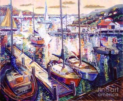 Painting - Sailboats by Stan Esson