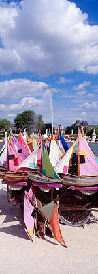 Sailboats Tuilleries Paris France Print by Panoramic Images