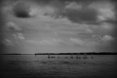 Photograph - Sailboats Under An Ominous Sky by Kelly Hazel