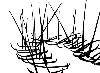 Sailboats Waiting On Shore Art Print by Menno Bos