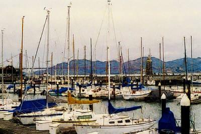 Photograph - Sailboats Watercolor by Gary De Capua