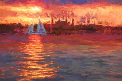Photograph - Sailboatsunset by Alice Gipson