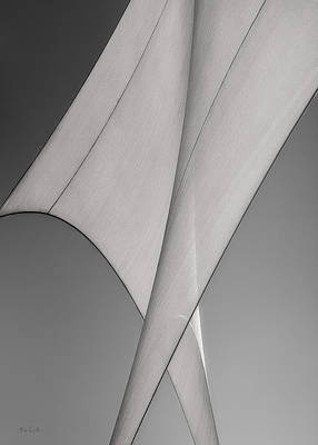 Black And White Art Photograph - Sailcloth Abstract Number 3 by Bob Orsillo
