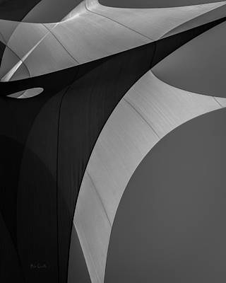 A White Christmas Cityscape - Sailcloth Abstract Number Eight by Bob Orsillo