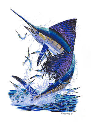 Shark Painting - Sailfish by Carey Chen
