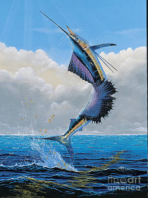 Scuba Painting - Sailfish Dance Off0054 by Carey Chen