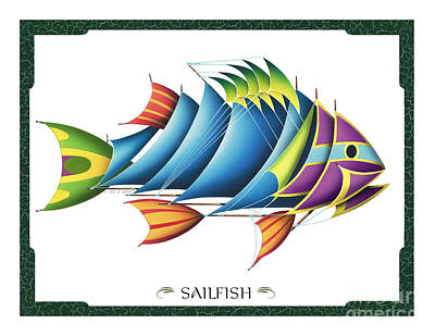 Kids Bones Painting - Sailfish by JQ Licensing
