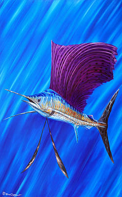 Painting - Sailfish by Steve Ozment