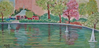 Sailin' Away In Central Park Art Print