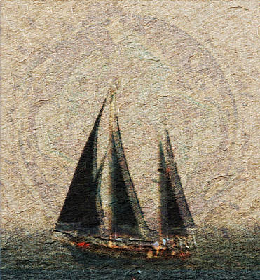 Doubloon Photograph - Sailing - Doubloons - Sun  by Marie Jamieson