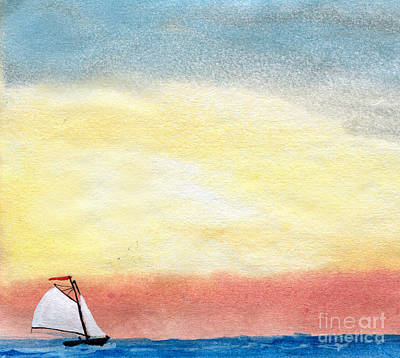 Blue Bouys Painting - Sailing 1 by R Kyllo