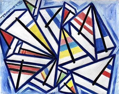 Sailboat Painting - Sailing 101 Art Print by Tommervik
