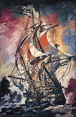 Painting - Sailing 2  by Andrzej Szczerski