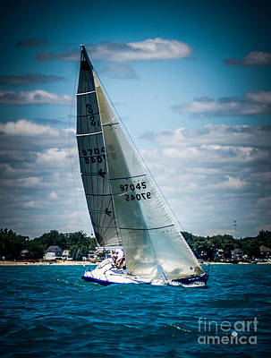Photograph - Sailing 97045 by Ronald Grogan