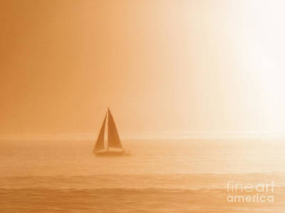 Photograph - Sailing A Hazy Sunset by Paul Topp