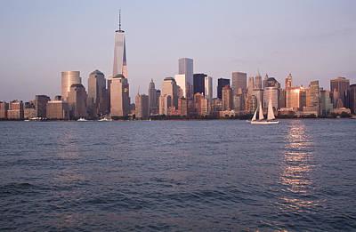 Photograph - Sailing Across The Hudson by Michael Dorn